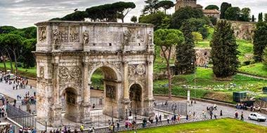 Arch of Constantine and Palatine Hill