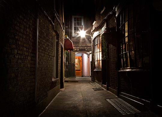 Jack the Ripper old London alley