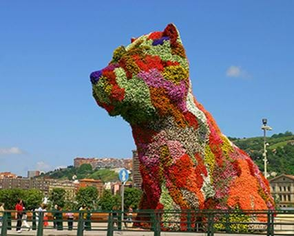 Flower dog from Bilbao