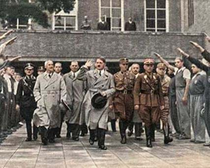 Adolf Hitler visiting the Berlin Stadium